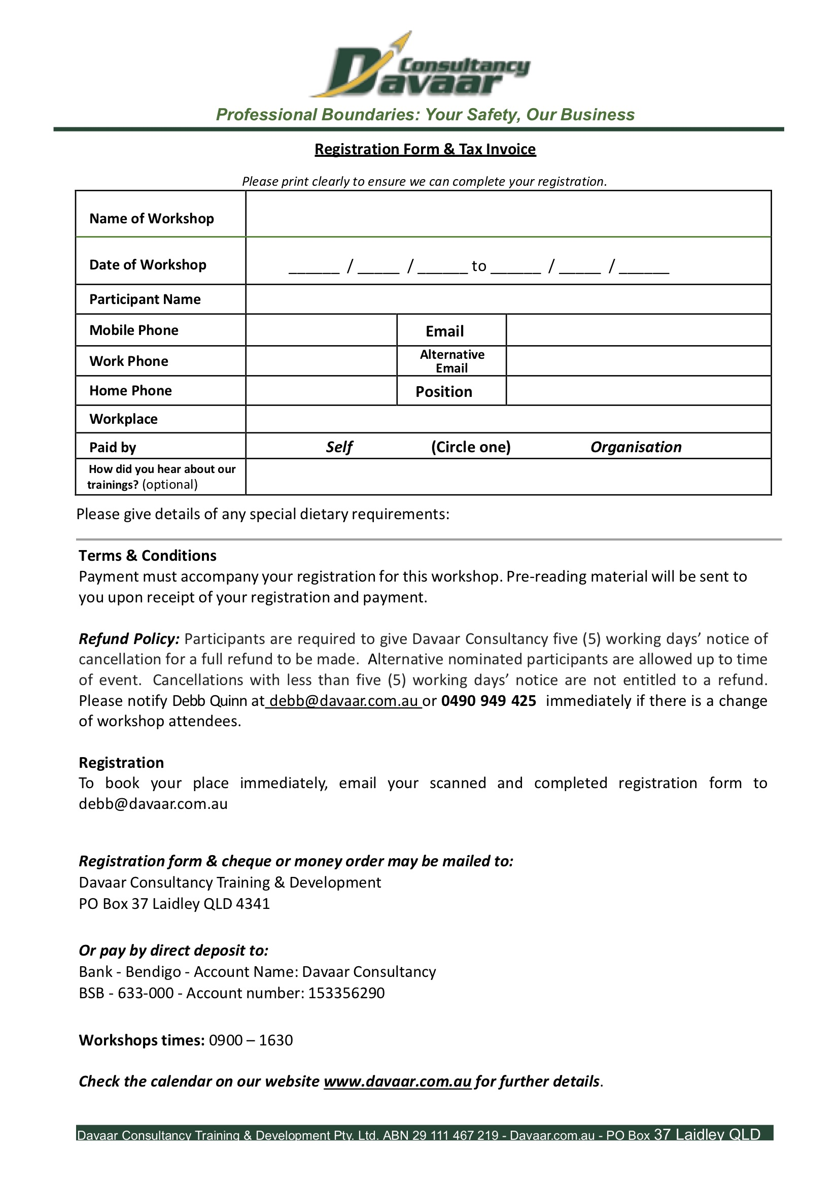 downloadable registration form PDF