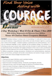 BRISBANE: Finding Your Voice - Acting with Courage in the Face of Workplace Bullying @ Conference Room | Coorparoo | Queensland | Australia