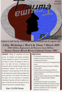 BRISBANE: Trauma - Impact on Self, Family, Community, Health Professionals & Support Staff (2-Day) @ Psychodrama Australia - Training Room | Roma | Queensland | Australia