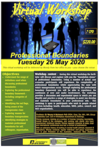 Virtual Professional Boundaries Workshop