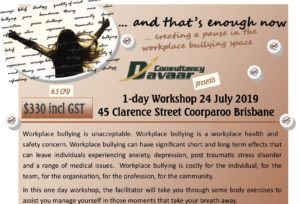 And that's enough. Workplace bullying workshop