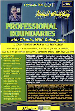 Virtual Professional Boundaries 3 & 4 June, 2020