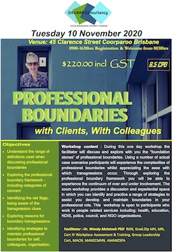 BRISBANE In-Person: Professional Boundaries (1-day) @ Training Room | Coorparoo | Queensland | Australia